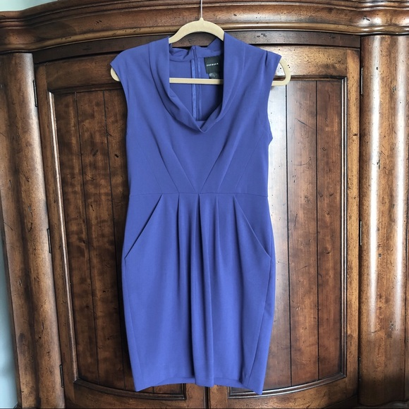 Chequer Dresses & Skirts - EUC Chequer Blue Violet Structured Dress
